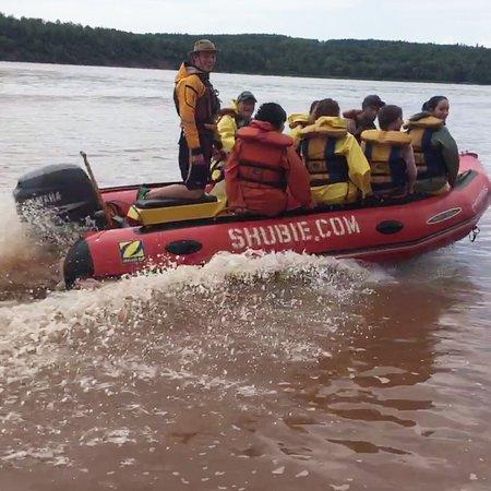 Shubanacadie River Adventure Tours: Landon and Jared on the job
