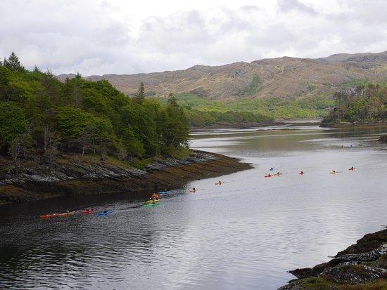 Lochaber, UK: Kayaks on Loch Moidart by Castle Tioram