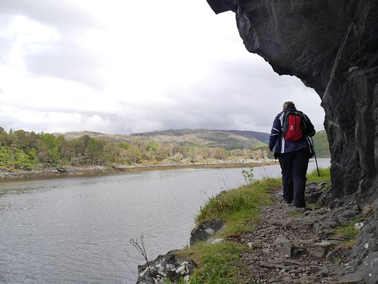 Lochaber, UK : On Silver Walk by Castle Tioram