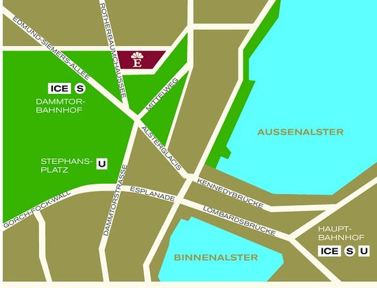 Map GRAND ELYSEE HAMBURG Picture of Grand Elysee Hotel Hamburg