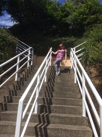Ferrycarrig, Ierland: like the steps in the film 'Dirty Dancing'