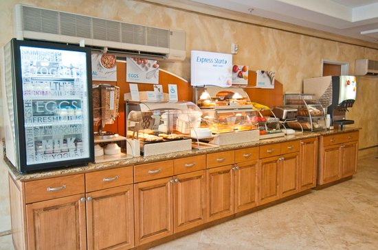 Holiday Inn Express Hotel & Suites Lafayette-South: Breakfast Bar