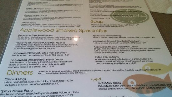 Paw Paw, MI: Brewsters Applewood Smoked menu