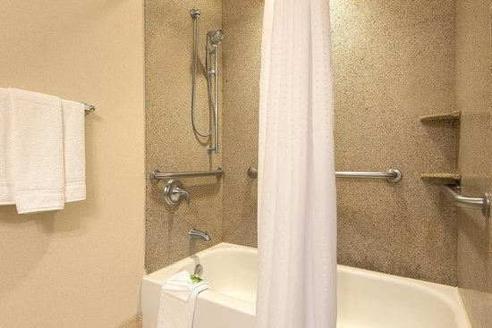Haskell, NJ: ADA/Handicapped accessible Guest Bathroom with mobility tub
