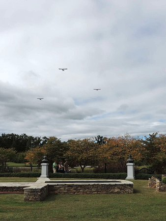 Bedford, VA: Fly over for veterans visiting d day - fall of 2014