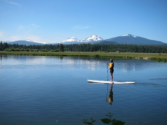 Sisters, OR: Standup Paddleboarding at Black Butte Ranch