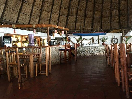 Hotel Villa Caribe: Panorámica del restaurante del hotel