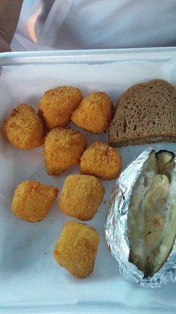 Weyauwega, WI: A first. Cod nuggets.