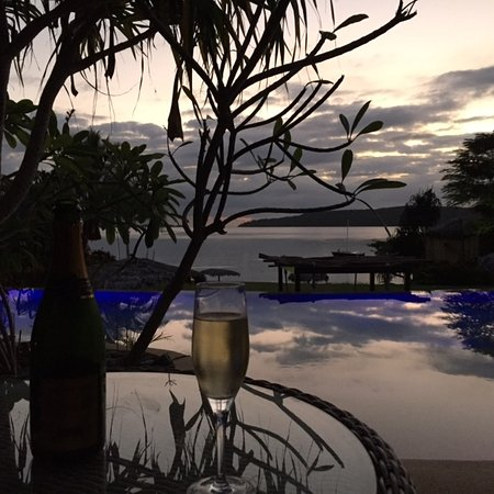 The Havannah, Vanuatu: Evening view from outside Room