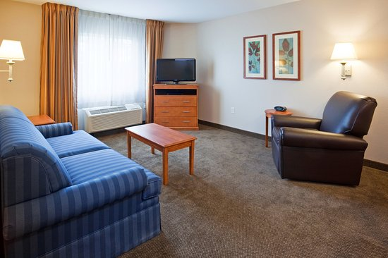 Candlewood Suites La Crosse: One Bedroom Suite Living Area