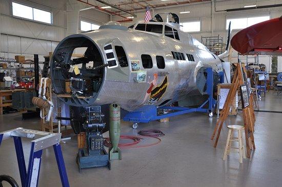 Urbana, OH: B-17 Fortress under going restoration