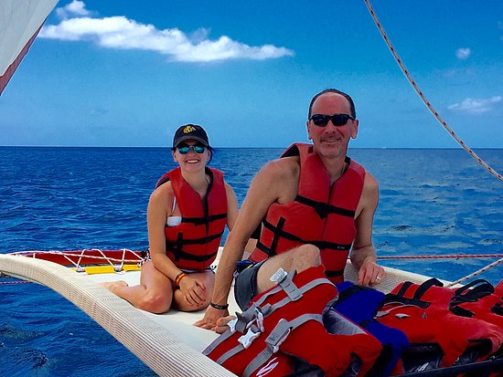 Hawaiian Ocean Adventures: Myself and older daughter on the trip.