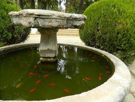 Columnas romanas en el jard n de los poetas picture of for Fuentes de agua con peces