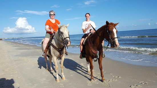 Cape San Blas, Floride : My niece Alex and I riding Joey and Corona.