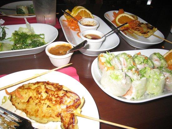 Wild Ginger Thai: Dish selection