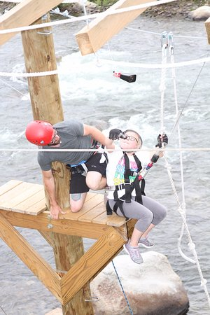 Browns Canyon Adventure Park: This is Murphy supporting our youngest on the Vertical Limit! He was an AMAZING guide!