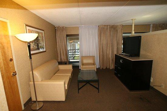 Clinton, NJ: Living Area Poolside Suite-Guest Room