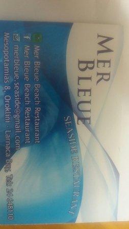 Mer Bleue Beach Restaurant: Mer Bleue