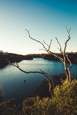 Lane Cove River at sunset from Burns Bay Road Foot Bridge.