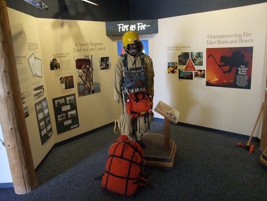 Aerial Fire Depot and Smokejumper Center : Display of current equipment