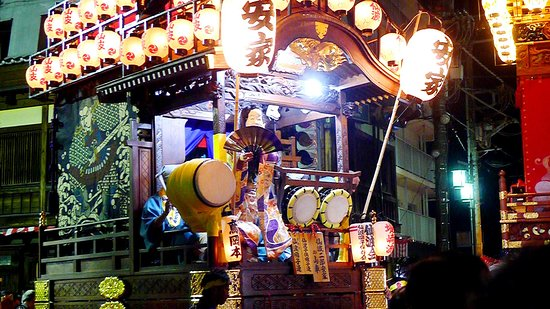 Kawagoe, Japan: Evening battle of the floats