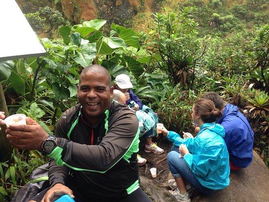 Saint-Claude, Gwadelupa: Une super montée avec Teddy!