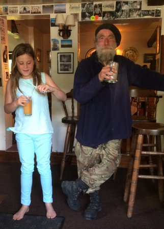 The Swan Inn: My daughter wanted a picture with Andy, the cow man :)