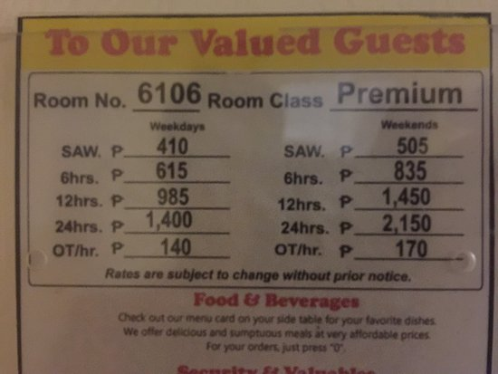 Motel Prices Per Hour