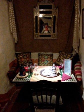 Mecina Fondales, Ισπανία: apercu de la salle du restaurant