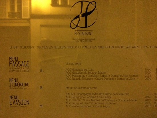 Restaurant h photo de restaurant h paris tripadvisor for H kitchen paris menu