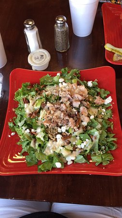 Fulton, MO: The BEST salad I have EVER had! PERIOD!!! It's the apple cinnamon pecan chicken salad & I highly