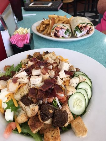 Pine Valley, CA: Taco Wrap & Cobb Salad