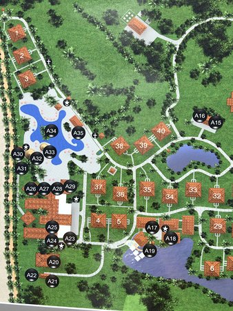 map of the property--beach is to left. - Picture of The Westin Golf Map Of All Inclusive Resorts In Costa Rica on