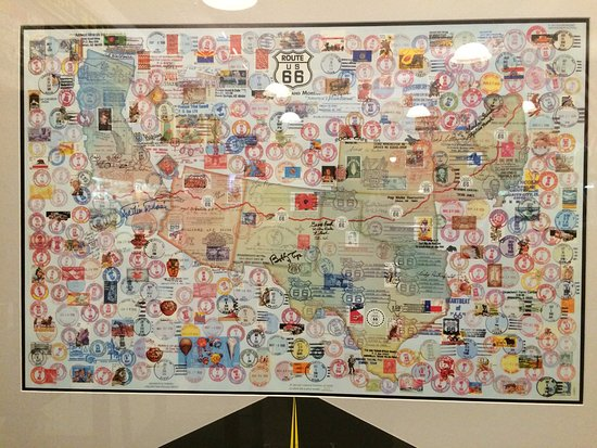 Pontiac, IL: Postal stamps from all towns on Rte. 66 - took something like 3 years to collect