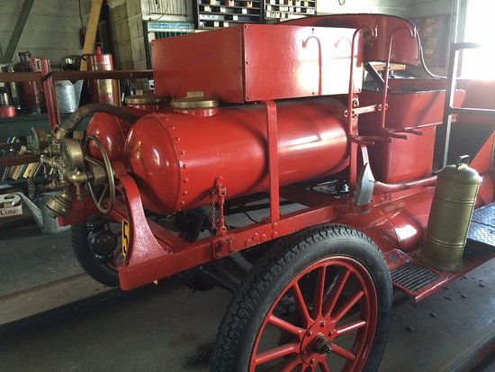 "Dwight, IL: Route 66 Association Hall of Fame & Museum - pumps on fire ""truck"""