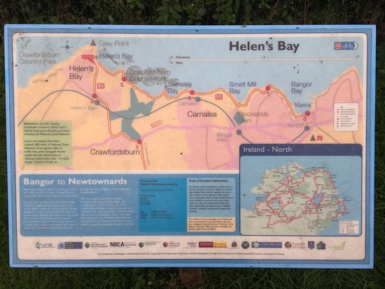 Helen's Bay, UK: The local area and the coastal path