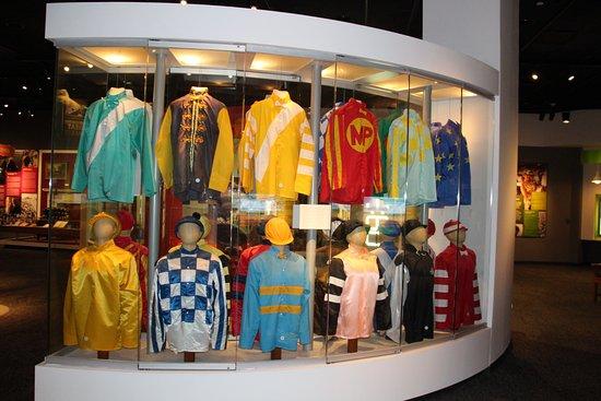 Kentucky Derby Museum: display of silks