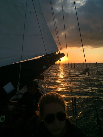 Tilghman, MD: sailing at sunset on the Chesapeake