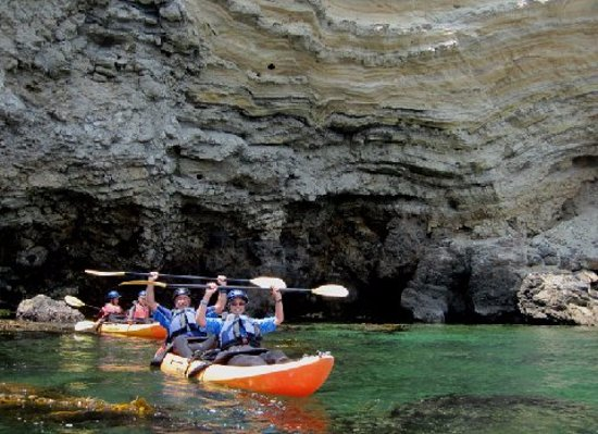 Roger & Bett @ Fascinating Sea Cave Kayak Tour - Picture of