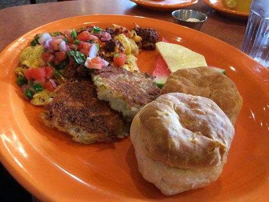Englewood, CO: Chorizo Scramble and Breakfast burrito