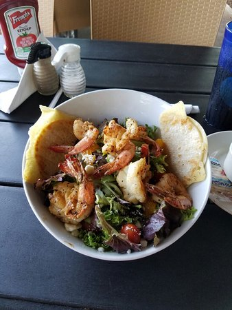 Fulton, TX: Delicious shrimp salad for lunch!