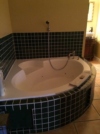 Heartwood Inn and Spa: Jetted tub in room