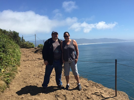 Cape Lookout State Park: At Cape Lookout Point.