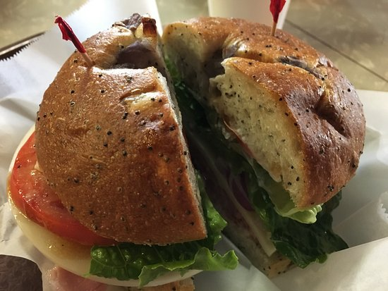 Lapeer, MI: Two hands required! Wow what an awesome sandwich!!