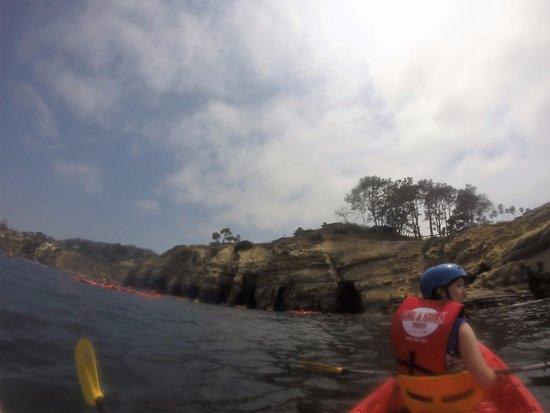 Bike and Kayak - La Jolla: Kayaking to the caves