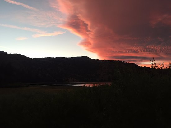 June Lake Marina: june lake sunset