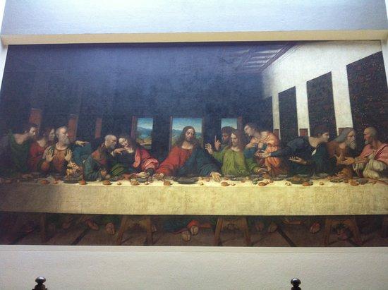 Da Vinci Museum: Kopie Laatste Avondmaal uit het atelier van Da Vinci.