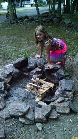 Ashford, CT: Campsite 90 Fire pit