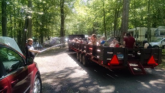 Ashford, CT: The wet wagon ride