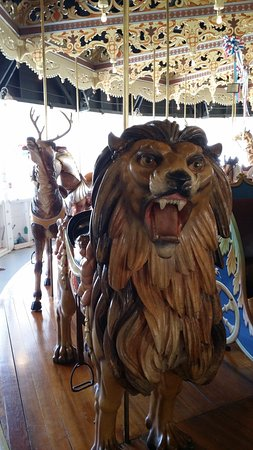 Burlington, Колорадо: This is the lead animal on the Carousel--the Lion